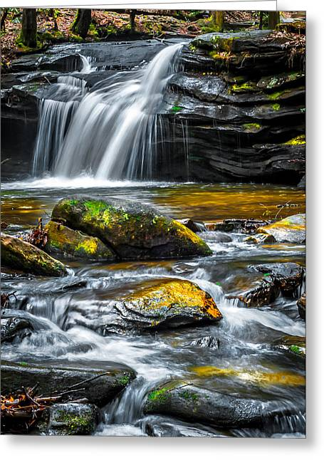 Carreck Creek Falls Greeting Card by Optical Playground By MP Ray