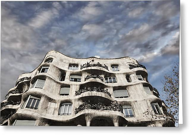 Casa Mila - Barcelona Greeting Card by Rod McLean