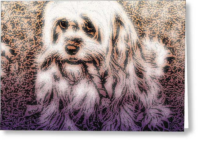 Puppy Digital Greeting Cards - Cassie Girl Greeting Card by Robert Orinski