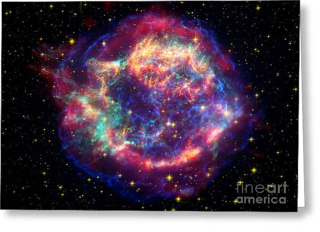 Stellar Remnant Greeting Cards - Cassiopeia A Greeting Card by Nasa Jpl