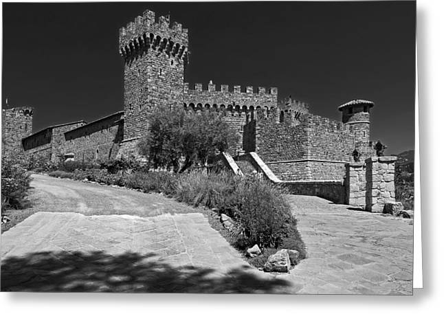 Scenic Drive Greeting Cards - Castello di Amorosa Winery Greeting Card by Mountain Dreams