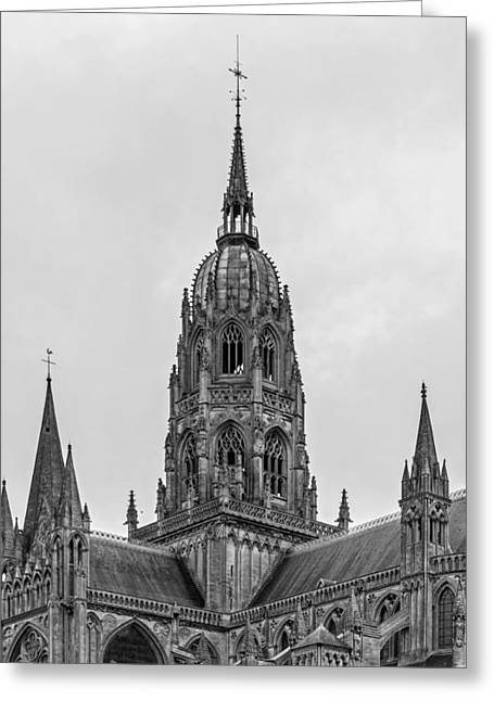 Calvados Greeting Cards - Cathedral Of Bayeux Greeting Card by Jebulon