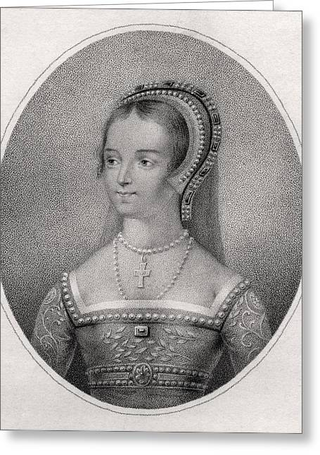 Catherine Greeting Cards - Catherine Parr Also Spelled Katherine Greeting Card by Ken Welsh