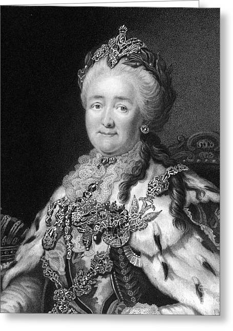 Catherine White Greeting Cards - Catherine The Great, Empress Of Russia Greeting Card by Middle Temple Library