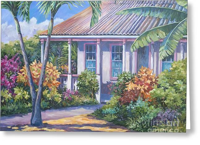 Cayman Yard Greeting Card by John Clark