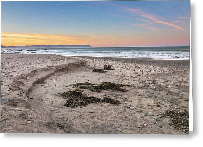 California Beaches Greeting Cards - Cayucos State Beach Sunrise Greeting Card by Patti Deters