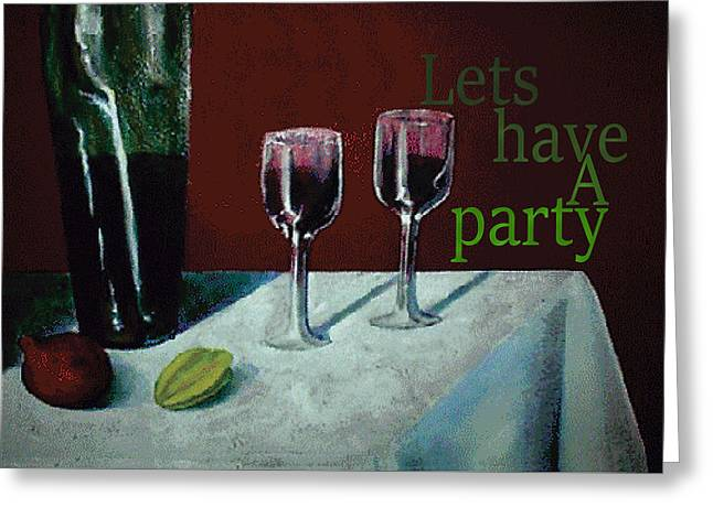 Party Invite Greeting Cards - Celebration Greeting Card by Thomas Lupari