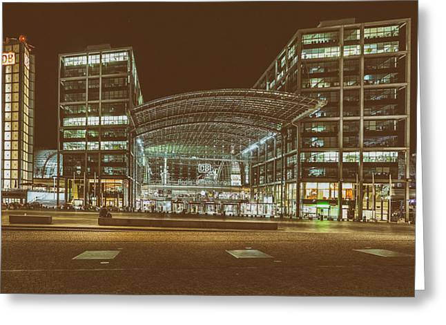 Berlin Germany Greeting Cards - Central Station Berlin Greeting Card by Thomas Ulrich