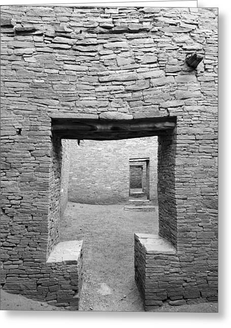 Pueblo People Greeting Cards - Chaco Canyon Doorways 2 Greeting Card by Carl Amoth