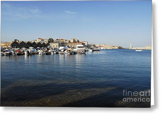 Chania Greeting Card by Stephen Smith