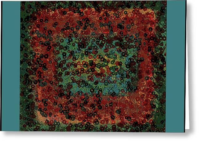Abstract Digital Mixed Media Greeting Cards - Chaos Greeting Card by Bonnie Bruno