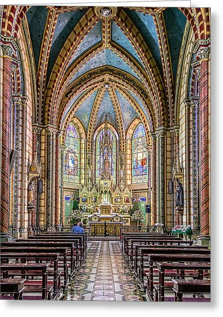 Historic Architecture Greeting Cards - Chapel Greeting Card by Maria Coulson