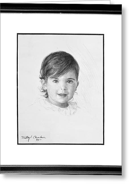 Timothy Chambers Greeting Cards - Charcoal Head and Shoulders Greeting Card by Timothy Chambers