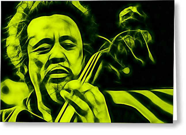 Double Bass Greeting Cards - Charles Mingus Collection Greeting Card by Marvin Blaine