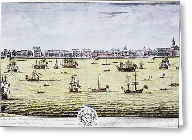 Engraving Greeting Cards - Charleston, S.c., 1739 Greeting Card by Granger