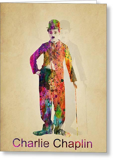 Charlie Chaplin Greeting Cards - Charlie Chaplin Greeting Card by Mark Ashkenazi