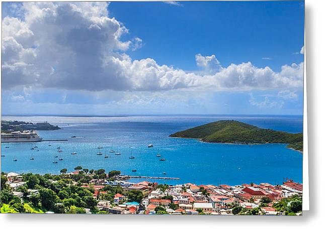 Charlotte Amalie Greeting Cards - Charlotte Amalie St. Thomas Greeting Card by Keith Allen