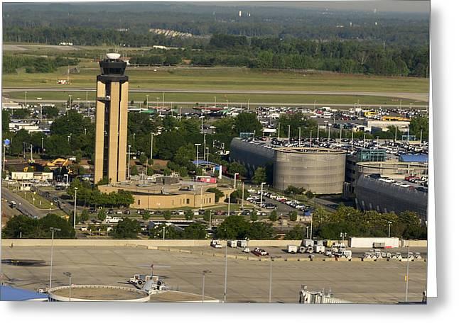 Charlotte Douglas International Airport Greeting Card by David Oppenheimer