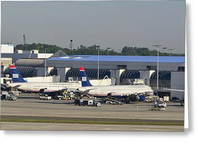 Charlotte Douglas International Airport Terminal Greeting Card by David Oppenheimer