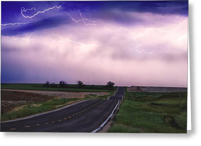Storm Prints Photographs Greeting Cards - Chasing The Storm - County Rd 95 and Highway 52 - Colorado Greeting Card by James BO  Insogna