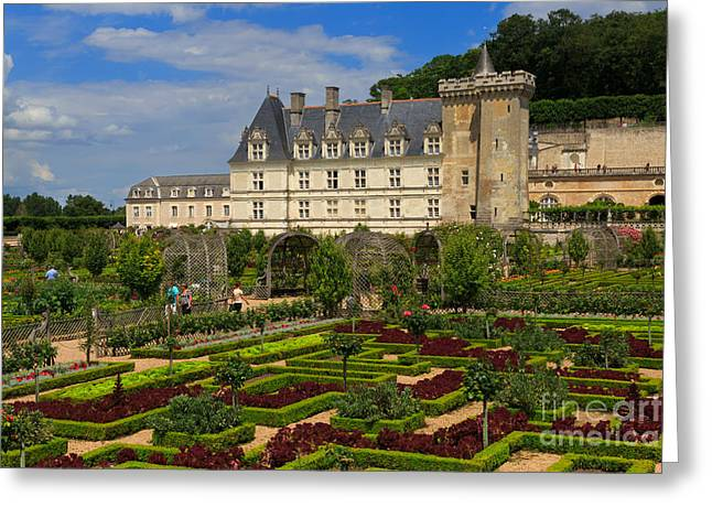 Chateau Greeting Cards - Chateau de Villandry Greeting Card by Louise Heusinkveld