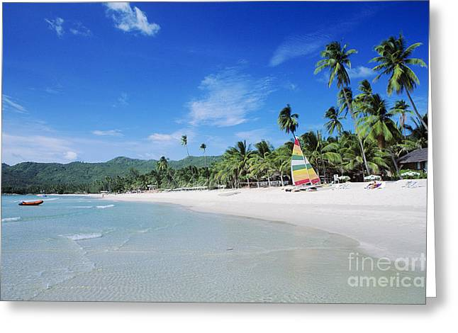 Koh Samui Greeting Cards - Chaweng Beach Greeting Card by William Waterfall - Printscapes