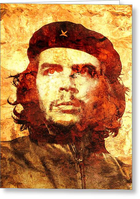 Unique Art Greeting Cards - Che Guevara Greeting Card by Jose Espinoza