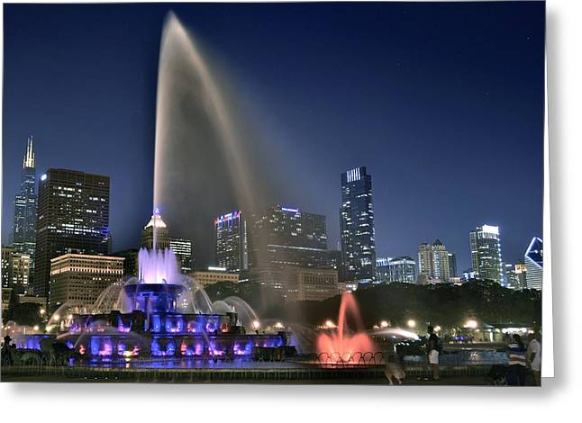 Theater Greeting Cards - Chicago Blue Greeting Card by Frozen in Time Fine Art Photography