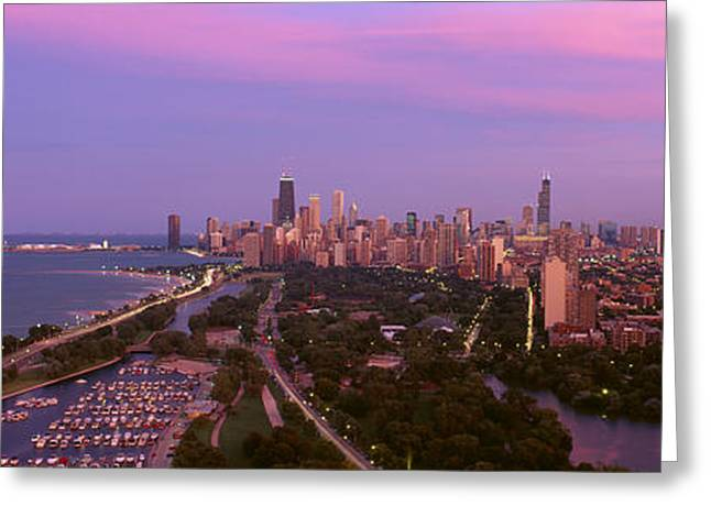Central Illinois Greeting Cards - Chicago, Diversey Harbor Lincoln Park Greeting Card by Panoramic Images