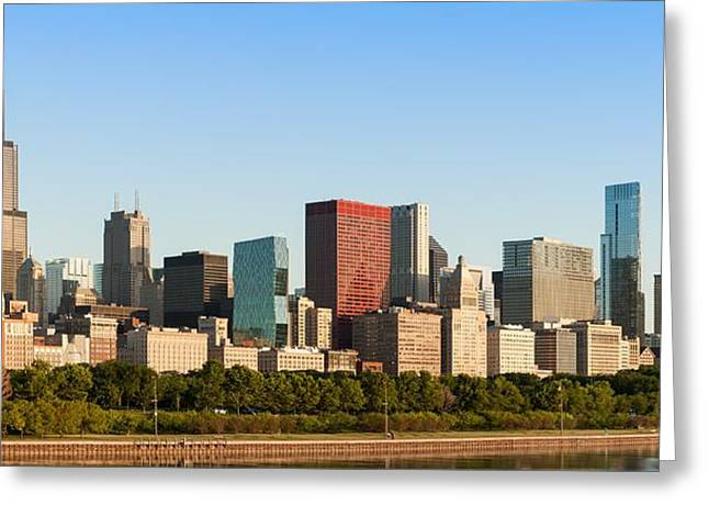 Wacker Drive Greeting Cards - Chicago Downtown at Sunrise Greeting Card by Semmick Photo