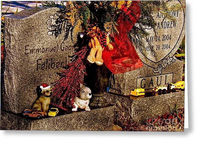 Child Toy Greeting Cards - Child Cemetery 2 Greeting Card by E Robert Dee