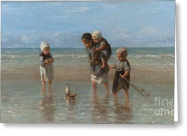 Children Of The Sea Greeting Card by Jozef Israels