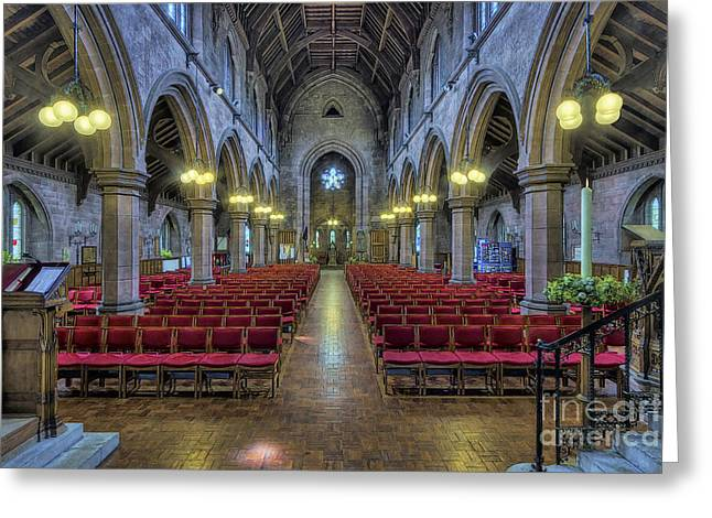 Medieval Temple Digital Greeting Cards - Christ Be Our Light Greeting Card by Ian Mitchell