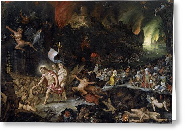 Limbo Greeting Cards - Christ in Limbo Greeting Card by Jan Brueghel the Elder