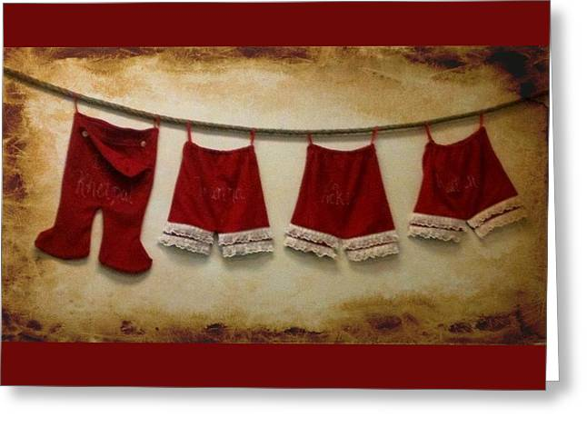 Christmas Britches Greeting Card by April Cook