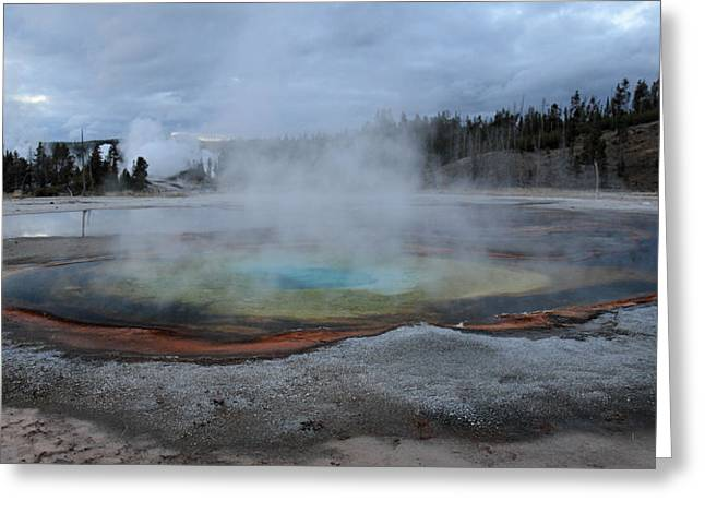 Chromatic Greeting Cards - Chromatic pool Yellowstone Greeting Card by Pierre Leclerc Photography