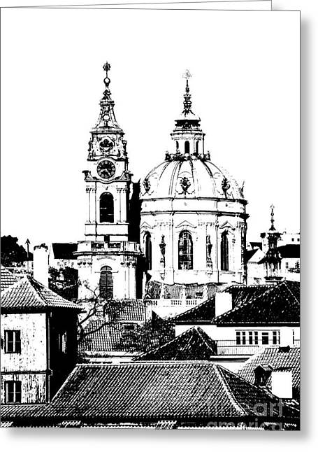 Church Of St Nikolas Greeting Card by Michal Boubin