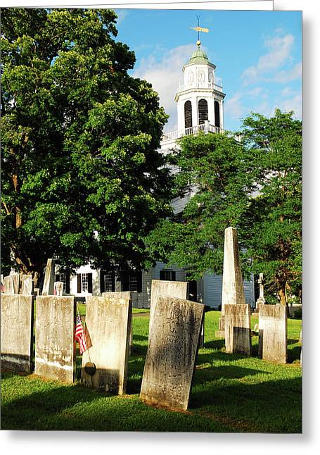 Church On The Hill Greeting Card by James Kirkikis