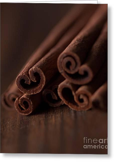 Cinnamon Greeting Cards - Cinnamon Love Greeting Card by Ana V  Ramirez