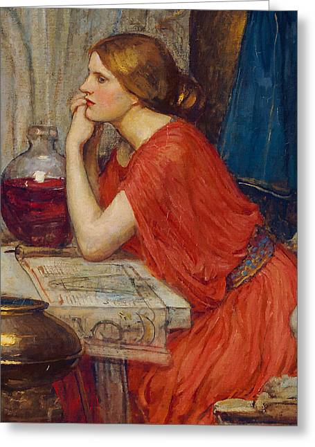 Camelot Greeting Cards - Circe Greeting Card by John William Waterhouse