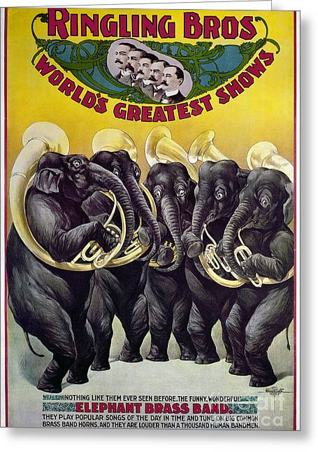 Ringling Brothers Greeting Cards - CIRCUS POSTER, c1899 Greeting Card by Granger
