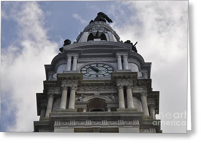 City Hall Greeting Cards - City Hall - William Penn Greeting Card by Andrew Dinh