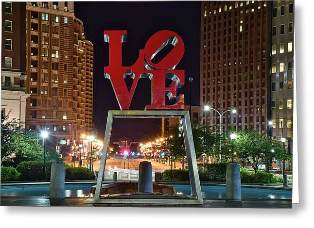City Of Brotherly Love Greeting Card by Frozen in Time Fine Art Photography