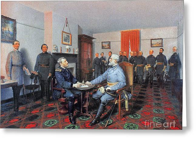 Southeastern Greeting Cards - Civil War: Appomattox, 1865 Greeting Card by Granger