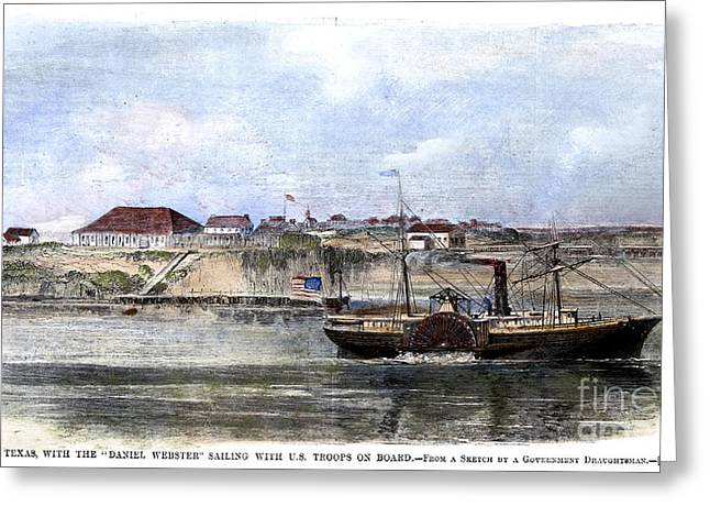 Civil War: Union Steamer Greeting Card by Granger
