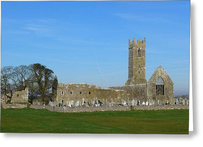 Claregalway Friary Greeting Card by Patrick Dinneen
