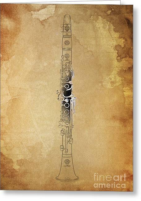 Clarinet 21 Jazz B Greeting Card by Pablo Franchi