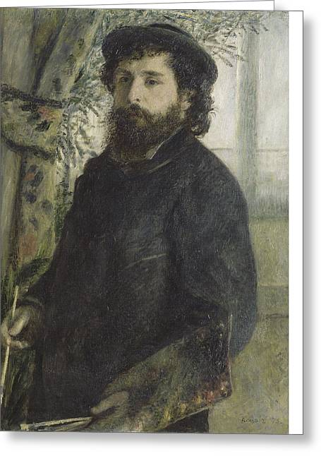 Famous Artist Greeting Cards - Claude Monet Greeting Card by Auguste Renoir