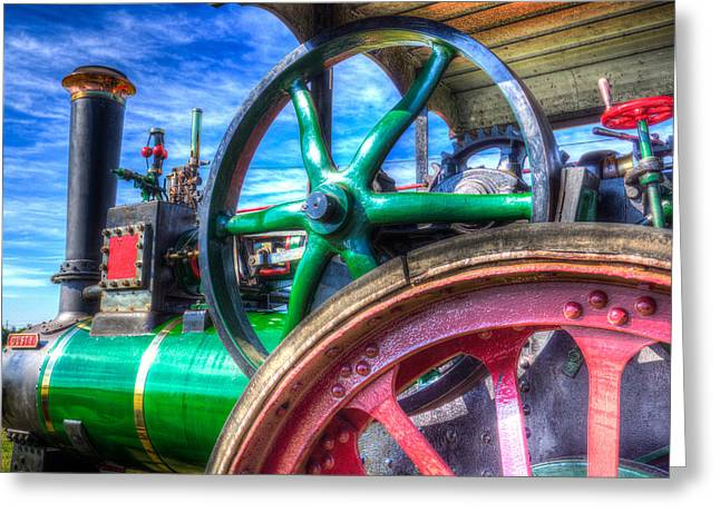 Clayton Greeting Cards - Clayton and Shuttleworth Traction engine Greeting Card by David Pyatt