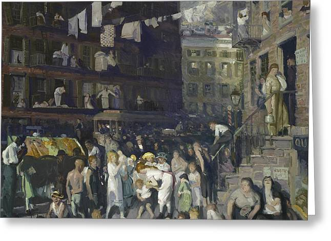 Poor People Greeting Cards - Cliff Dwellers Greeting Card by George Wesley Bellows